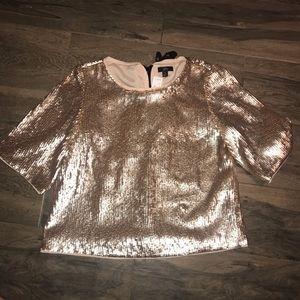 Sequin gold short sleeve